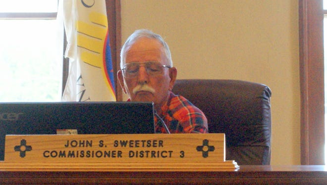 District 3 commissioner John Sweetser is the chair of the Luna County Board. The board will elect a new chair for 2021.