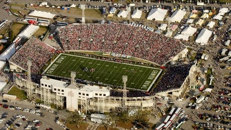 Mississippi State and South Alabama will play in front of a sellout crowd on Saturday at Ladd-Peeble Stadium in Mobile, Alabama.