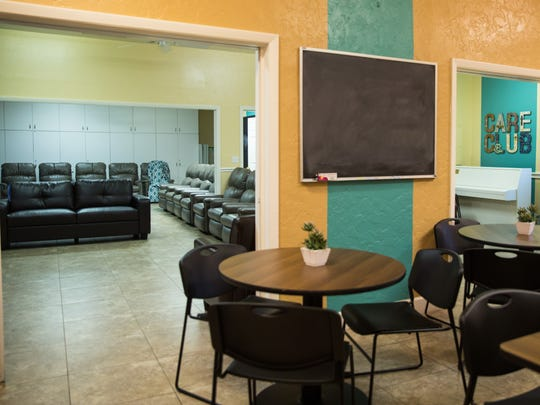 """The facilities at Care Club of Collier County have been renovated during their temporary closure. As Assistant Director Mindy Johnson says, """"We are trying to make lemonade out of lemons. We wouldn't have been able to make the renovations otherwise."""""""