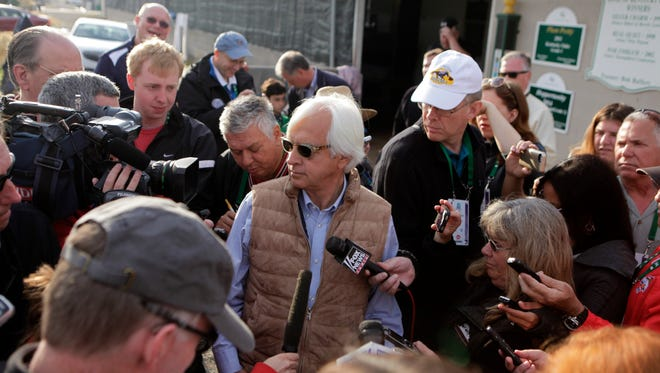 Trainer Bob Baffert spoke to the media on the morning after winning his fourth Kentucky Derby.  May 3, 2015.