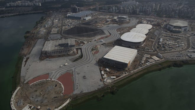 The Olympic Park which will host Rio's 2016 Olympics is seen under construction in Rio de Janeiro, on July 27, 2015.