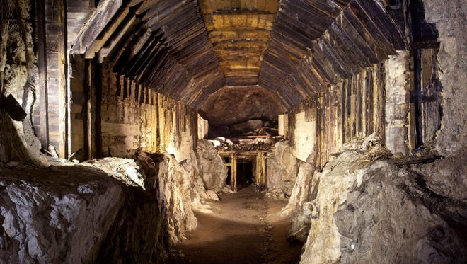 This file photo from March 2012 shows part of a subterranean system built by Nazi Germany in what is today Gluszyca-Osowka, Poland. According to Polish lore, a Nazi train loaded with gold  and weapons vanished into a mountain at the end of World War II.