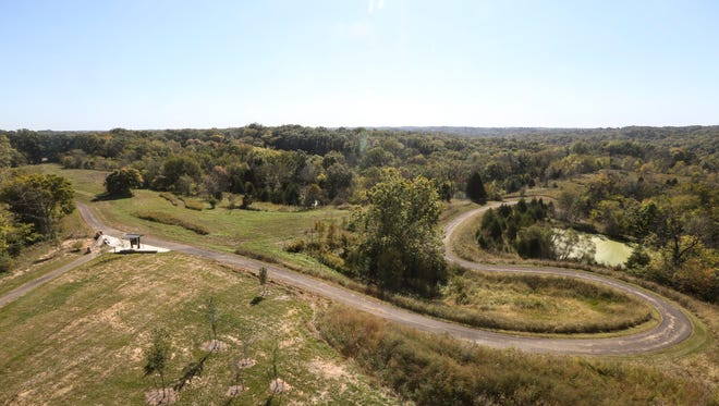 An overview of the The Parklands of Floyd's Fork Turkey Run Park from the top of lookout at the Brown-Forman Silo Center. Oct. 7, 2015