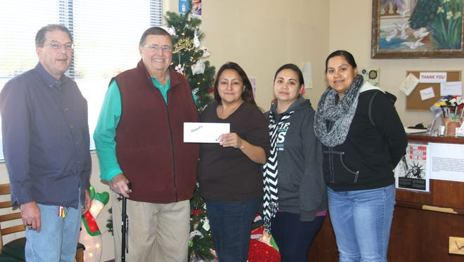 Bob Shively donated $500 to The Salvation Army services office in Mesquite.