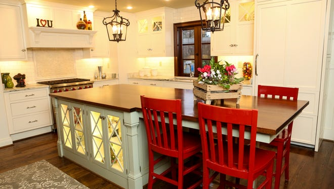 Another view of the kitchen island at the home of Mike and Mary Jude Pfeifer. Dec. 31, 2015
