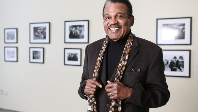 """Ken Clay, co-author of """"Two Centureis of Black Louisville"""" and in charge of running Legacies Unlimited stands in what will become a permanent exhibit at the Kentucky Center for African American Heritage. The exhibit will be dedicated during a two-day entertainment and history public event called """"Celebrating the Legacy of Black Louisville"""" Jan. 29-30 at the center. Jan. 21, 2016"""