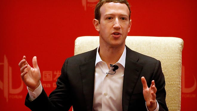 Facebook CEO Mark Zuckerberg speaks during a panel discussion held as part of the China Development Forum at the Diaoyutai State Guesthouse in Beijing, Saturday, March 19, 2016. (