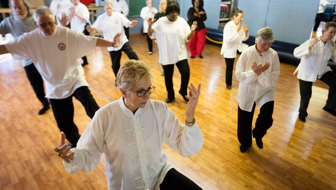 Pat Owens practices at the Nu Chapter Tai Chi Chuan & Qi Gong Health Institute.