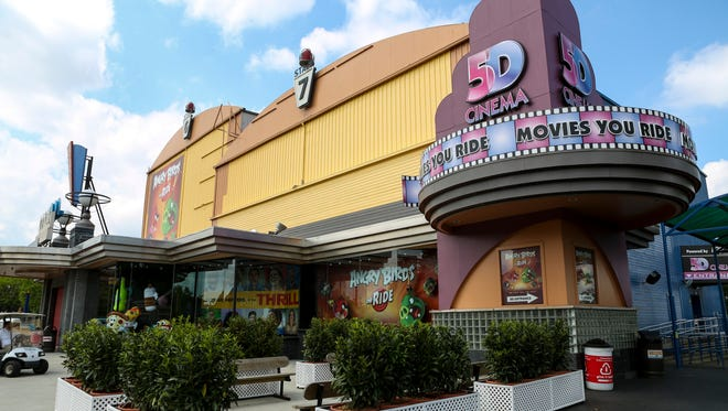 Outside of the 5D Cinema at Kentucky Kingdom that will feature a new Angry Birds 5D viewing experience for 2016.