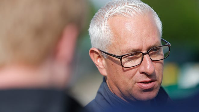 Trainer Todd Pletcher spoke with tme media Wednesday about his horses, Destin and Outwork.