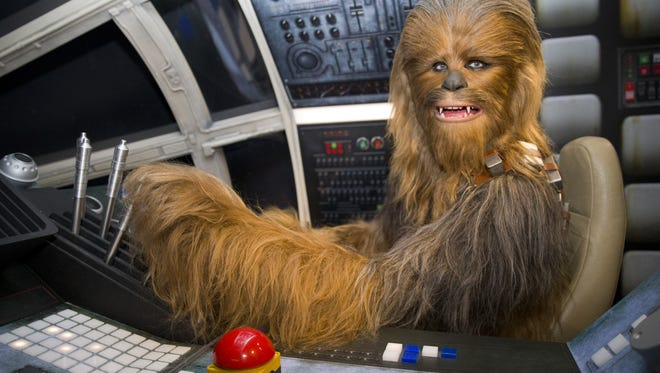 The wax figure of Star Wars character Chewbacca is pictured at the Star Wars At Madame Tussauds attraction in London on May 12, 2015.