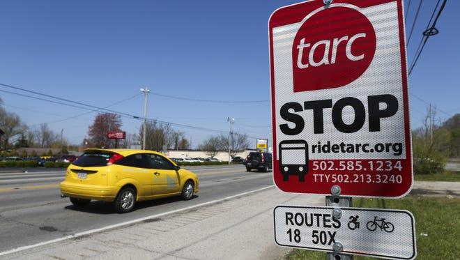 A TARC bus stop location.