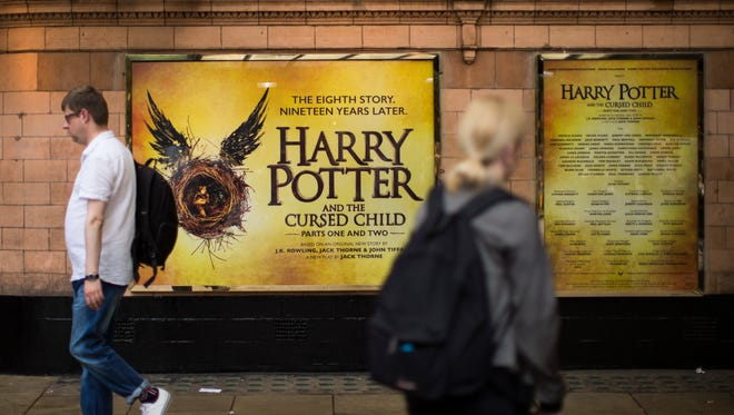A general view of The Palace Theatre, following the first preview of the Harry Potter and The Cursed Child play last night, on June 8, 2016 in London, England. The new Harry Potter play follows on from the British author J.K. Rowling's acclaimed series of books about a boy wizard.