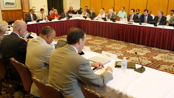 """The """"old"""" University of Louisville Board of Trustees met Thursday for the first time since Gov. Matt Bevin announced he was removing its members. The board is meeting again while litigation over Bevin's reorganization is pending in the courts."""