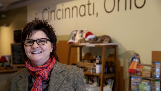 Michele Hobbs owner of Pets Wants on Vine Street in Over-the-Rhine.