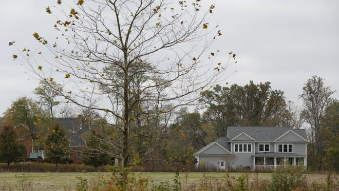 The Poplar Woods subdivision, home of the 2017 Homearama, features a conservancy area, shown here. Oct. 27, 2016.