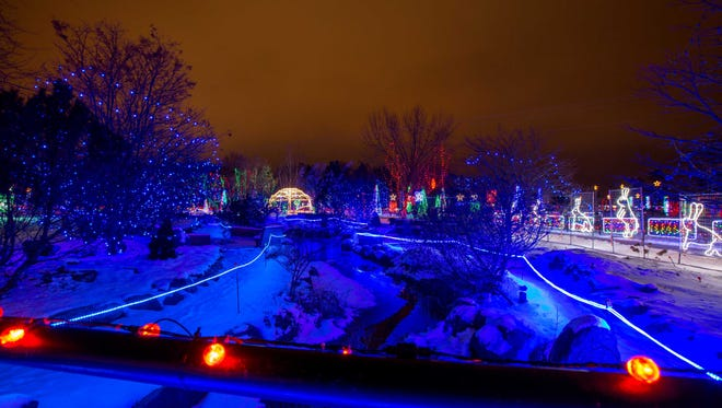 The Marshfield Rotary Winter Wonderland displays a wide variety of festive lights and Christmas decorations at the Marshfield Wildwood Zoo on December 7, 2016, in Marshfield, Wisconsin. The Winter Wonderland is open from 5 p.m. to 9 p.m. seven days a week.