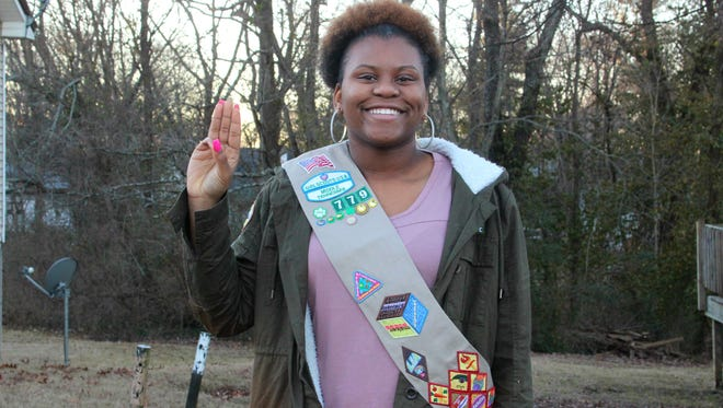 Kaevon Burney of troop 779 is a Stellar Seller in her troop. She has sold close to 12,000 boxes of cookies in eight years. The Girls Scouts of Middle Tennessee are celebrating 100 years of cookie sales.