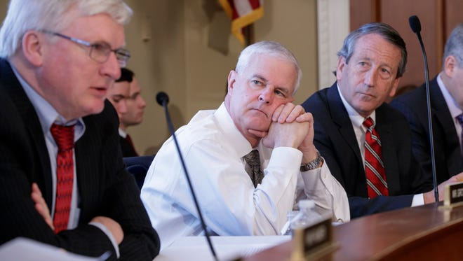U.S. Rep. Glenn Grothman of Sheboygan County, left, cast the key vote in a House committee Thursday that advanced a measure that would replace Obamacare.