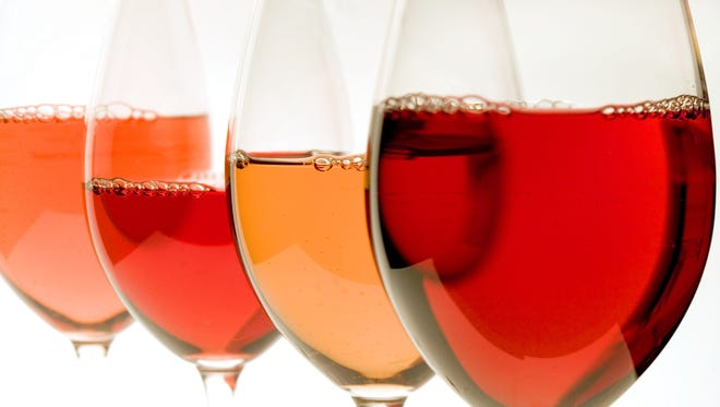 Rose wines can have lots of colors
