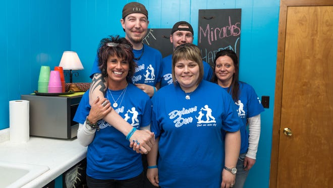 Suzi Breit, left, is the force behind the fight that helps make miracles happen at Dylan's Den. Featured in the picture from left to right: Dylan Boise, Rayden Kellner, Katie Elmhorst and Cassie Meyer.