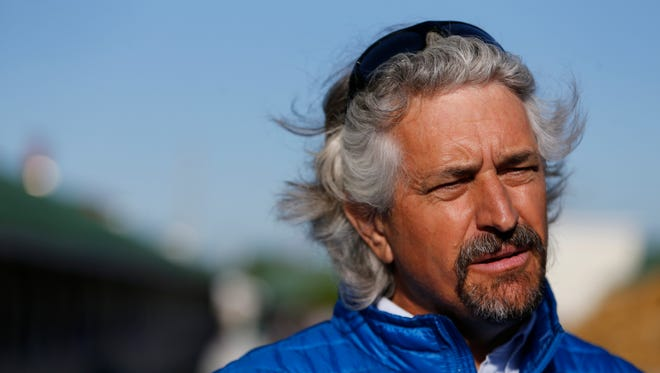 Trainer Steve Asmussen spoke with the media at Churchill Downs. May 1, 2017.