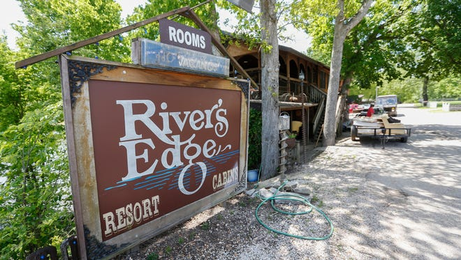 There was extensive damage from the recent flood at the River's Edge Resort in Eminence, MO.