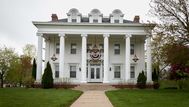 The White House in Wisconsin Rapids is the area's largest historic mansion and has hosted guests such as Louis Armstrong and Susan B. Anthony. Images taken on May 11, 2017, in Wisconsin Rapids.