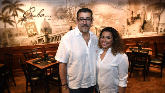 Chef Nick Vazquez and his daughter, owner Lauren Vazquez, in their restaurant Azucar Cuban Cuisine in Closter. Photographed on Monday, June 12, 2017.