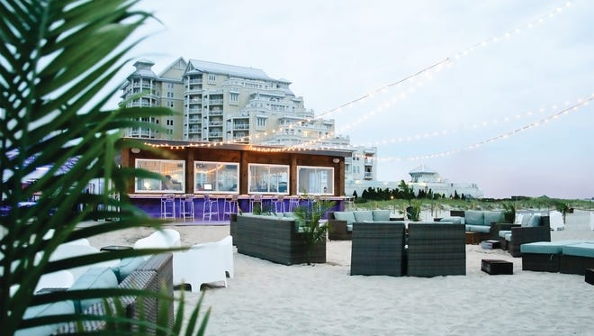 Bungalow Number 7 Beach Bar offers bucket cocktails. The bar part of the Icona Diamond Head Beach Resort in Wildwood Crest.