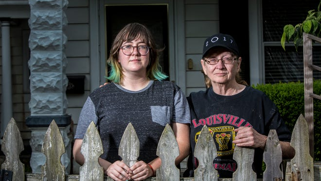 Nicci, left, and Vicki Madison live in a Schnitzelburg house that's in the process of foreclosure. They're actively trying to save it for at least the third time as developers eagerly await the sale of another potential investment in an up-and-coming neighborhood.  Aug. 14, 2017