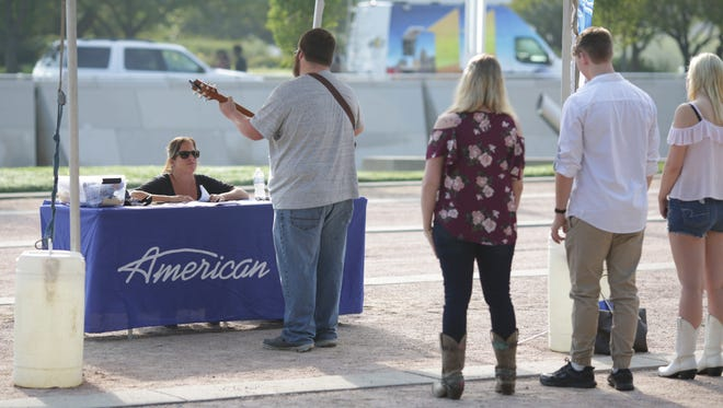 Contestants audition during the American Idol auditions at Louisville's Waterfront Park. Aug. 30, 2017