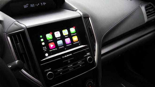 Apple CarPlay and Android Auto both come standard on the 2018 Crosstrek