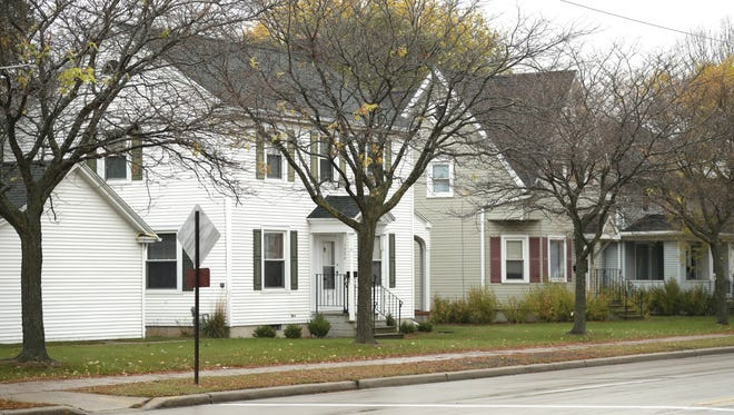 The Green Bay Housing Authority owns these homes along University Avenue.