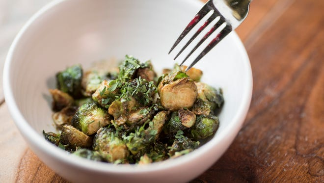The brussel sprout dish at 8UP Elevated Kitchen and Drinkery. Oct. 27, 2017