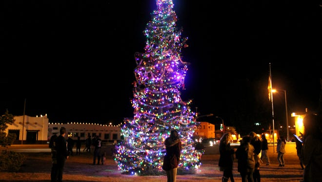 In this 2016 file photo, residents enjoy the annual Christmas Tree Lighting Ceremony.