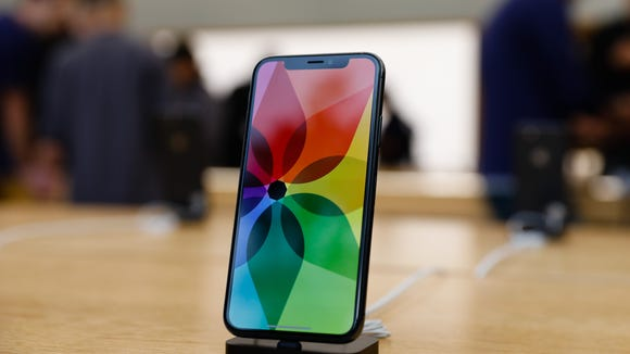Apple's new iPhone X is seen in the Apple Store Union Square on Nov. 3, 2017.