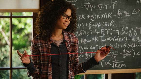Storm Reid plays a teenager who goes on an epic adventure to find her father in 'A Wrinkle in Time.'