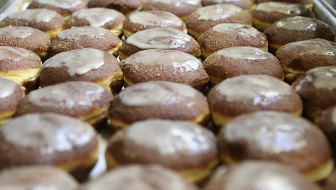 Doughnuts (or paczki in Polish) with Hungarian lekvar are shown at Polonia Bakery in Passaic