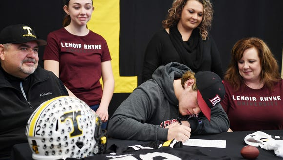 Tuscola's Cameron Parker signs to play football at
