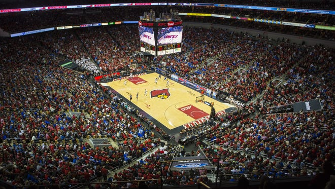 The KFC Yum Center during the UK and U of L basketball game in December.
