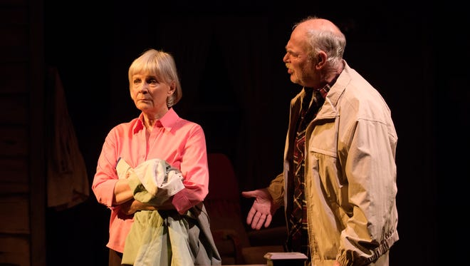 "Susan Sweeney and James Pickering portray a couple in crisis in ""The Outgoing Tide,"" performed by In Tandem Theatre."