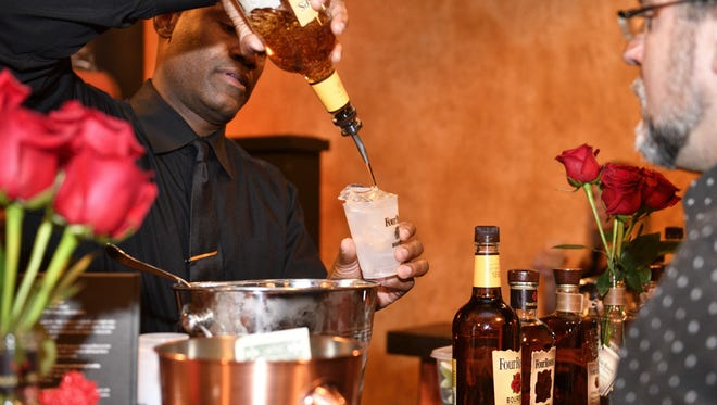 Bourbon is the drink of choice at KDF.