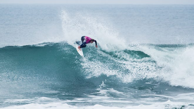 Caroline Marks was eliminated from the 2018 Rip Curl Pro Bells Beach after falling to Stephanie Gilmore in the semifinals  at Bells Beach, in Victoria, Australia.
