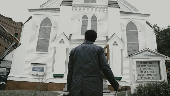 "Death-row attorney Henry Deaver (Andre Holland) returns to his Maine home town in the new Hulu series ""Castle Rock."""