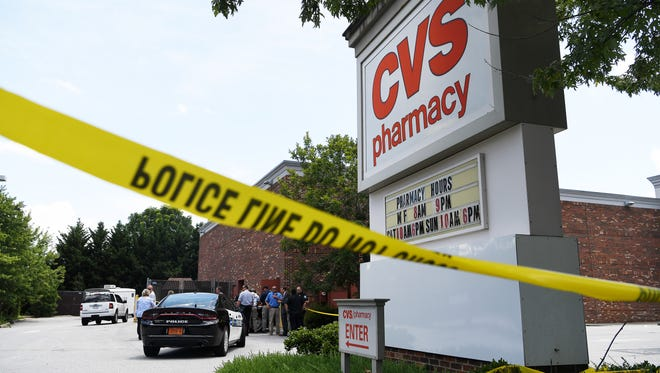 A man is dead after police say he engaged in an armed confrontation with them inside CVS off of Hendersonville Road. Police have yet to name the suspect, who was fatally shot on scene.