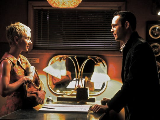 "Anne Heche and Vince Vaughn star in Gus Van Zant's 1998 remake of Hitchcock's ""Psycho."""