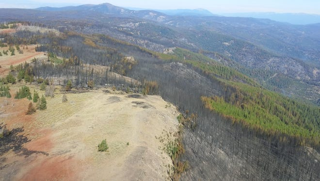Aerial view from the Rail Fire in Eastern Oregon.