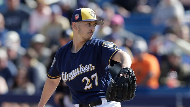 Zach Davies is close to returning to the Brewers' spring rotation.