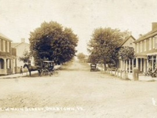 Looking West from the square of Orrstown during the